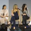 Kim Kardashian : Enceinte et sexy pour la Fashion Week, avec ses soeurs et Kanye