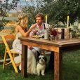 Mariage champêtre d'Hunter Parrish et Kathryn Wahl au Flying Caballos Ranch à San Luis Obispo en Californie, le 13 septembre 2015.