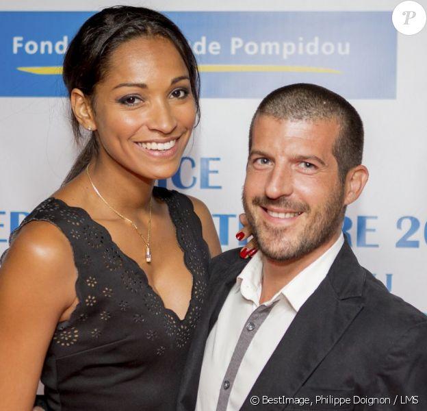 Exclusif - Cindy Fabre et son compagnon Jean-Marc - Remise du prix Claude Pompidou pour la recherche sur la maladie d'Alzheimer à l'hôtel Aston La Scala à Nice le 11 septembre 2015.