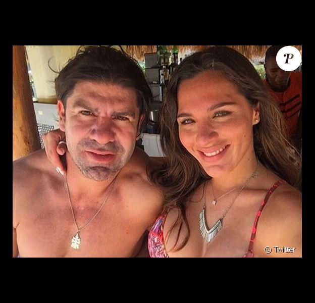 L'ex-footballeur Marcelo Salas et sa chérie Gianella Marengo - 2015