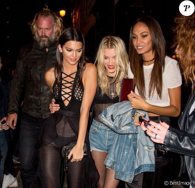 Kendall Jenner, Olivier Rousteing et Gigi Hadid se rendent à une soirée à l'hôtel La Réserve à Paris, pendant la fashion week.