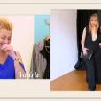 Valérie devant le look d'Ingrid dans Les Reines du shopping, le 30 septembre 2015, sur M6