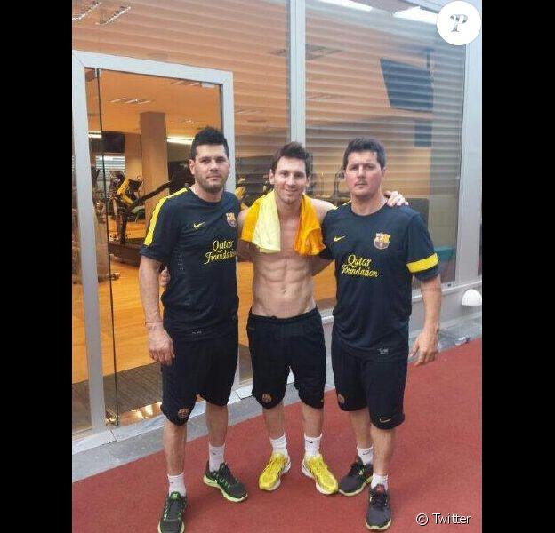 Lionel Messi avec ses frères Matias et Rodrigo en 2013
