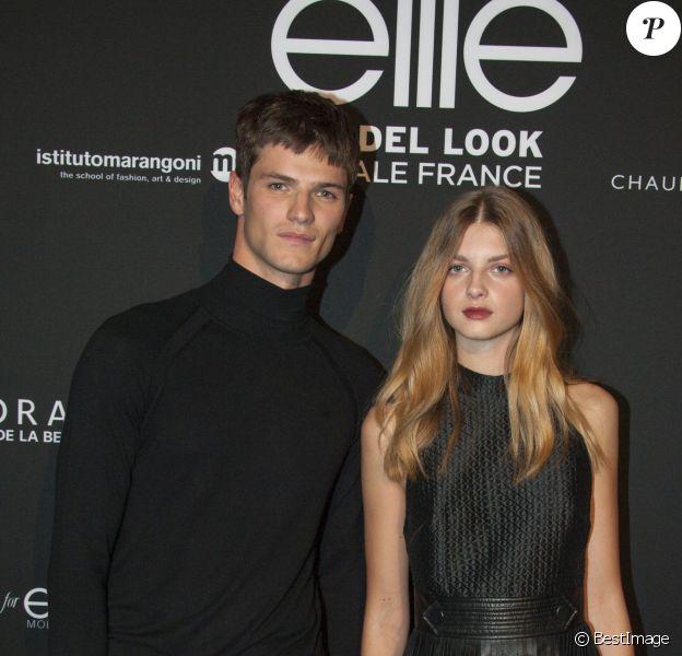 Tristan Tymen (Vainqueur Homme) et Mathilde (Gagnante Femme) - Finale du concours Elite Model Look au Palais de Tokyo à Paris le 8 octobre 2015.08/10/2015 - Paris