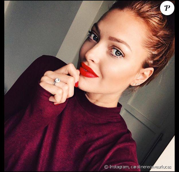 Caroline Receveur en rousse. Toutes les couleurs de cheveux vont à l'ex-jolie blonde. Octobre 2015.