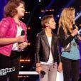 Equipe Louis Bertignac - Battle entre Coline (14 ans), Arthur (10 ans) et Julia (13 ans) -  The Voice kids , émission du 16 octobre 2015 sur TF1.