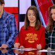 Equipe Jenifer - Battle entre Justine (14 ans), Elisa (12 ans) et Jacob (15 ans) -        The Voice kids     , émission du 16 octobre 2015 sur TF1. Laura va en finale !