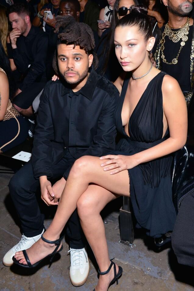The Weeknd, Bella Hadid au défilé Alexander Wang Spring Summer 2016 à New York, le 12 septembre 2015