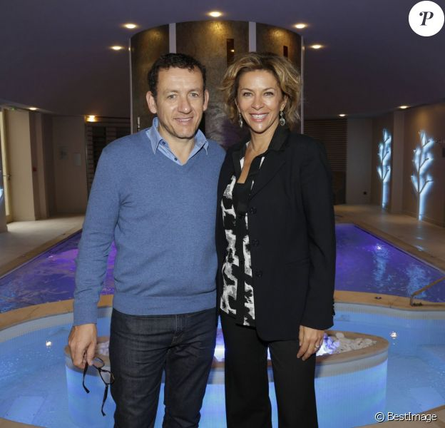 Exclusif - Dany Boon et Corinne Touzet lors de l'inauguration du Spa de l'Hôtel Château d'Augerville dans le Loiret, le 17 octobre 2015.