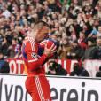 Franck Ribéry lors de la rencontre de Ligue des champions entre le Shakhtar Donetsk et le Bayern de Munich, le 11 mars 2015 à Munich