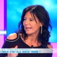 Nathalie, ex de Vivan, dans le  Débrief  de  Secret Story 9 , sur NT1, mercredi 28 octobre 2015.