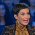 L'animatrice télé Cristina Cordula, invitée de  Salut les terriens  sur Canal+, le samedi 31 octobre 2015.