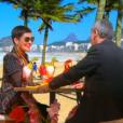 Cristina Cordula, face à Thierry Ardisson dans  Salut les terriens  sur Canal+, le samedi 31 octobre 2015.