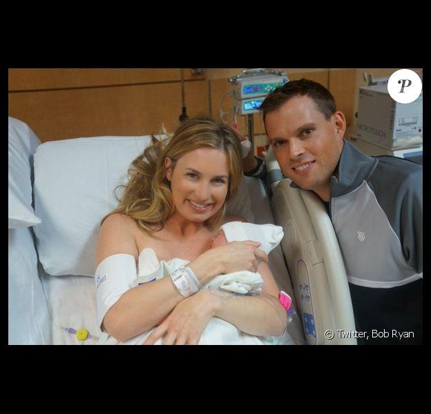 Bob Ryan, son épouse Michelle et leur petit Richard - Photo publiée le 27 octobre 2015