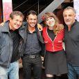 """Dove Attia, Willy Rovelli, Caroline Rose et Albert Cohen à la soirée pour le retour de """"1789, les Amants de la Bastille"""" à Boulogne-Billancourt, le 9 octobre 2013."""