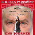 L'affiche du spectacle Une journée ordinaire avec Alain et Anouchka Delon.