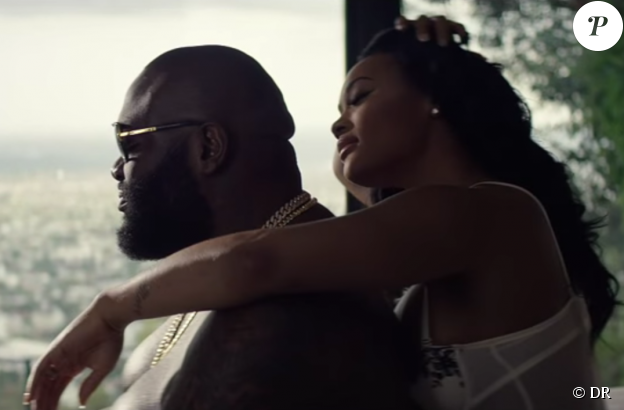 """Rick Ross et Lira Galore dans le clip """"Sorry ft. Chris Brown"""", publié le 12 novembre 2015."""