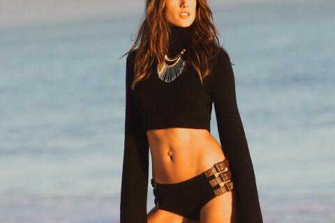Alessandra Ambrosio : Bombesque sur la plage, pour un beau coucher de soleil