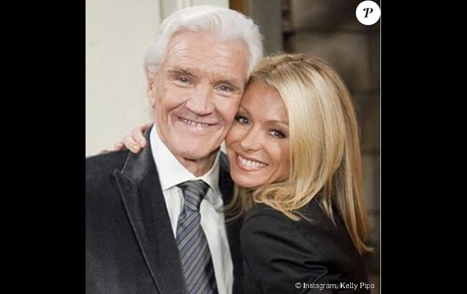 Kelly Pipa et David Canary - Photo publiée le 24 novembre 2015 pour saluer la mémoire de l'acteur, décédé le 16 novembre