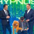 Arthur, Jeff Panacloc et Messmer, dans  Stars sous hypnose , le vendredi 27 novembre 2015 sur TF1.