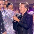 Dorothée, lors du concert événement des 30 ans de Bercy, à l'AccorHotels Arena à Paris, le vendredi 4 décembre 2015.