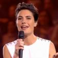 Alessandra Sublet, lors du concert événement des 30 ans de Bercy, à l'AccorHotels Arena à Paris, le vendredi 4 décembre 2015.