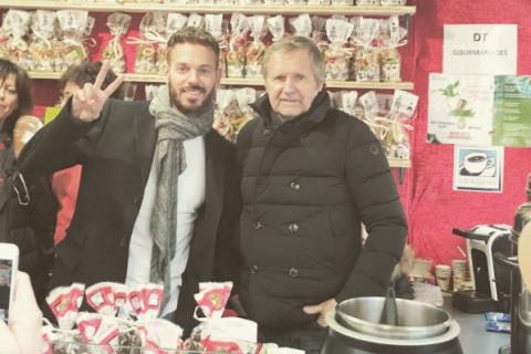 M. Pokora : Retrouvailles avec son père au marché de Noël de Strasbourg