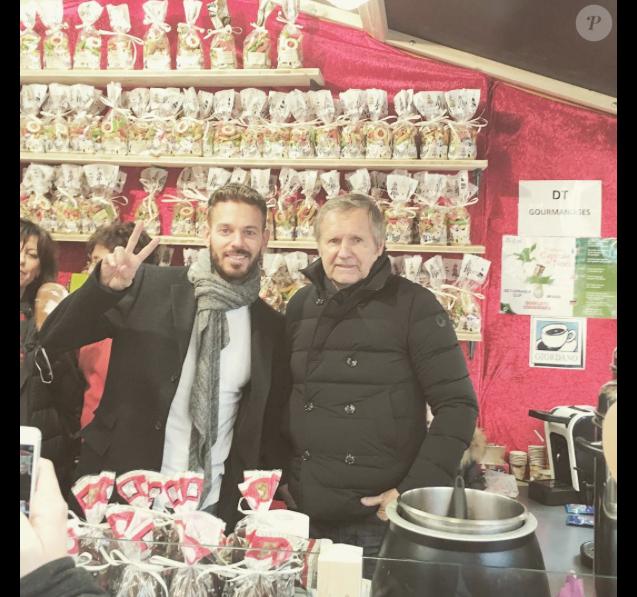 M. Pokora et son père André, le 4 décembre 2015 à Strasbourg.