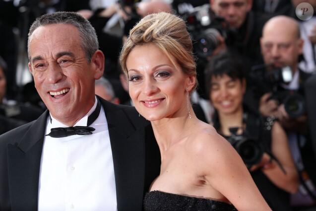 Thierry Ardisson et Audrey Crespo-Mara à Cannes en 2012.