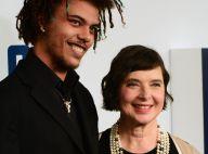 Isabella Rossellini, lumineuse au bras de son fils adoptif Roberto Rossellini Jr