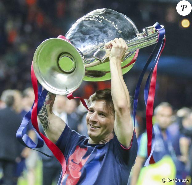 Lionel Messi après la victoire en Ligue des champions le 6 juin 2015 à Berlin