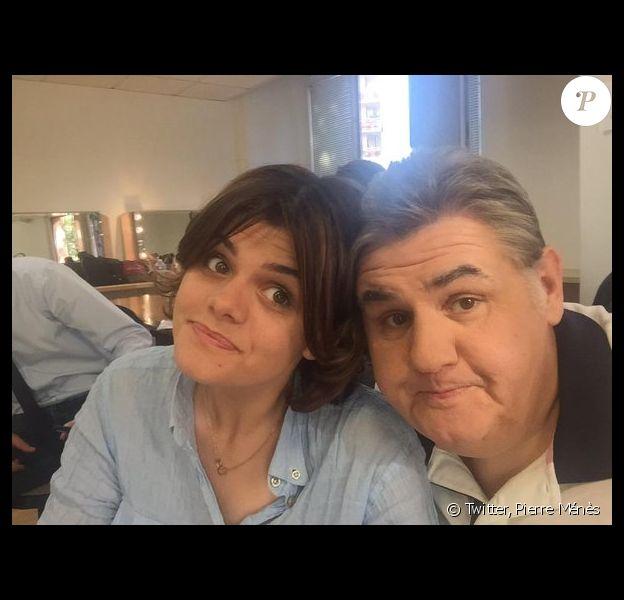 Pierre Ménès et sa fille Anne - Photo publiée le 10 mai 2015