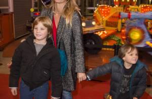Sarah Lavoine, Caroline Barclay, Henri Leconte et leurs enfants à Jours de Fêtes
