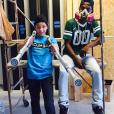 Steven Fernandez et Keelan Dadd / photo postée sur Instagram au mois de janvier 2014.