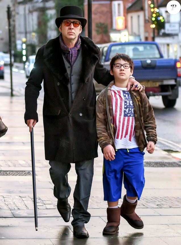 Tvshowbiz article what dickens nicolas cage sports hat cane quirky period look treating son kale el shopping trip