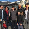 Zinedine Zidane avec sa femme Véronique et leurs enfants avant de partir pour les vacances de Noël - 23 décembre 2015