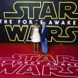 George Lucas et sa femme Mellody Hobson - People à la première de Star Wars: The Force awakens à Odeon Leicester Square à Londres le 16 décembre 2015.16/12/2015 - Londres