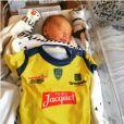 Le nouveau-né de Daniel Kotze, le pilier de l'ASM - Photo publiée le 1er janvier 2016