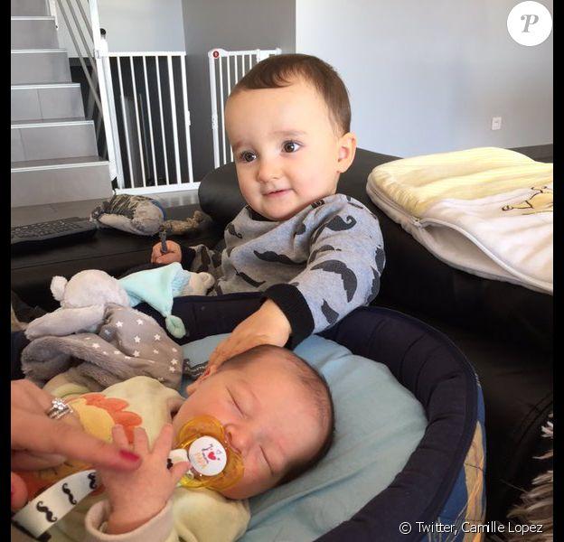 Marius et Victor, les enfants de Camille Lopez, ouvreur de l'ASM et du XV de France - Photo publiée le 3 janvier 2016