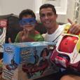 Cristiano Ronaldo et son fils - janvier 2016