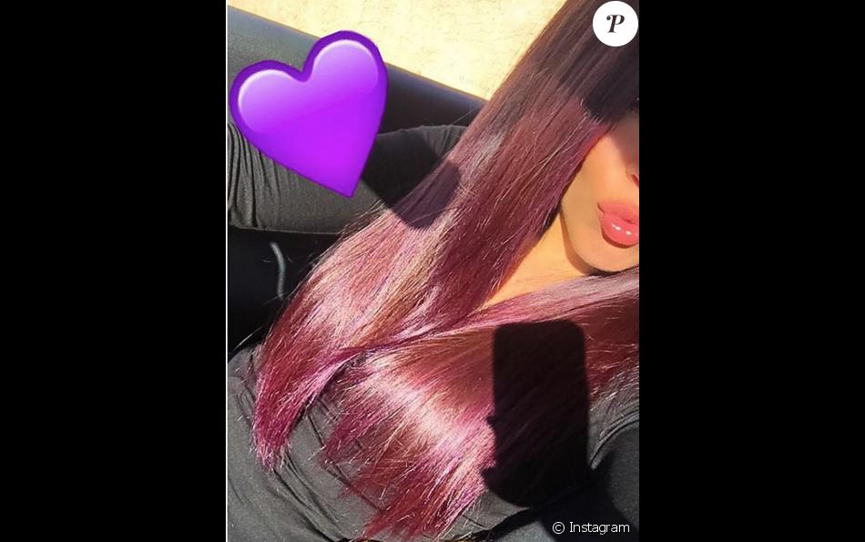 Nouvelle couleur de cheveux violet