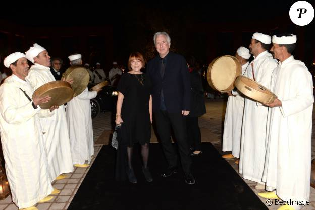 Alan Rickman et sa compagne Rima Horton - Dîner Dior lors du 14ème festival international de Marrakech, le 7 décembre 2014.  Dior dinner during Marrakech 14th International Film Festival on December 7th, 2014 in Marrakech, Morocco.07/12/2014 - Marrakech