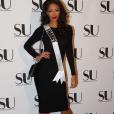 La belle Flora Coquerel, Miss France 2014, aux Etats-Unis pour le concours Miss Univers 2016. Décembre 2015.