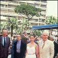 Jacques Rivette, Emmanuelle Béart et Michel Piccoli lors du Festival de Cannes en 1991 et la présentation de La Belle Noiseuse