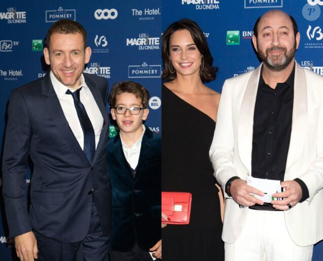 Dany Boon et son fils Eytan, Karad Merad et Julie Vignali - 6ème édition des prix Magritte du cinéma à Bruxelles en Belgique le 6 février 2016.