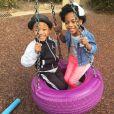 Crystal Renay a publié une photo des enfants de son mari Ne-Yo sur sa page Instagram, le 20 février 2016.