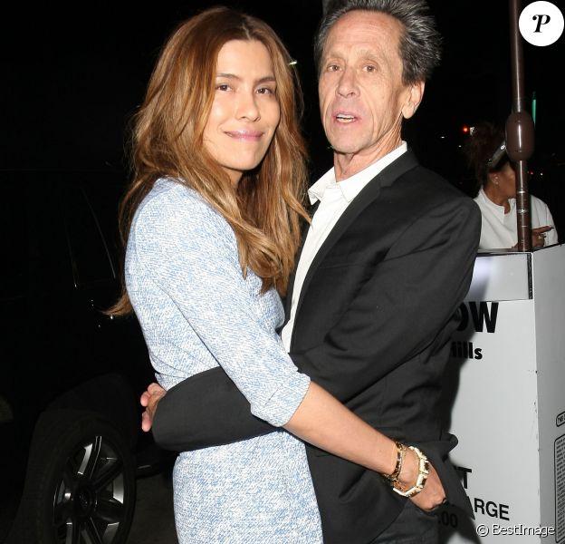 Brian Grazer et sa femme à la sortie du restaurant Mr Chow à Beverly Hills, le 27 avril 2015