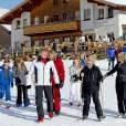 La famille royale des Pays-Bas lors de ses vacances aux sports d'hiver à Lech am Arlberg le 22 février 2016.