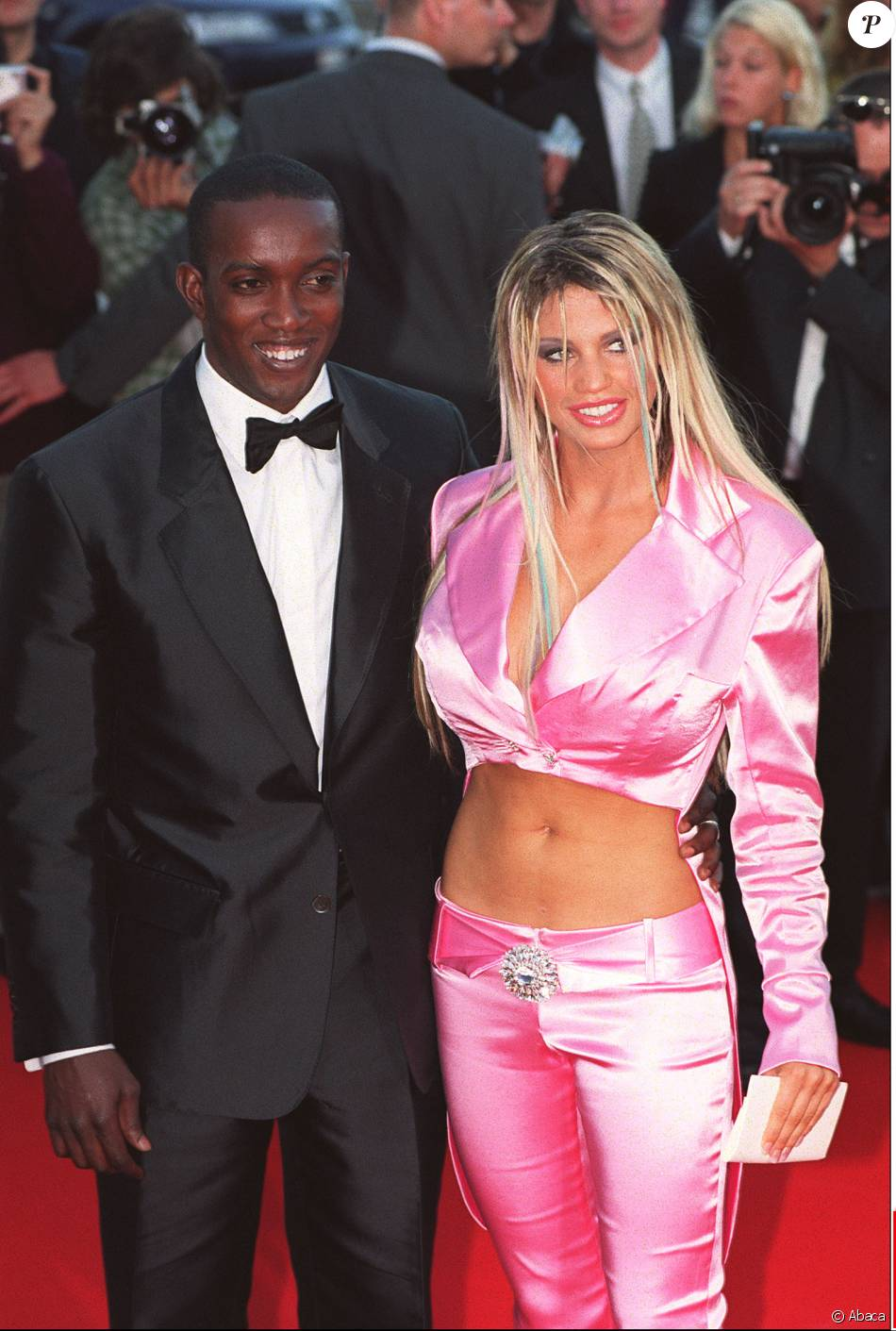 British footballer Dwight Yorke et Katie Price aux Laureus Sports Awards au Monte-Carlo Beach Club de Monaco, le 22 mai 2001