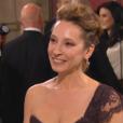 Emmanuelle Bercot arrive aux César 2016.